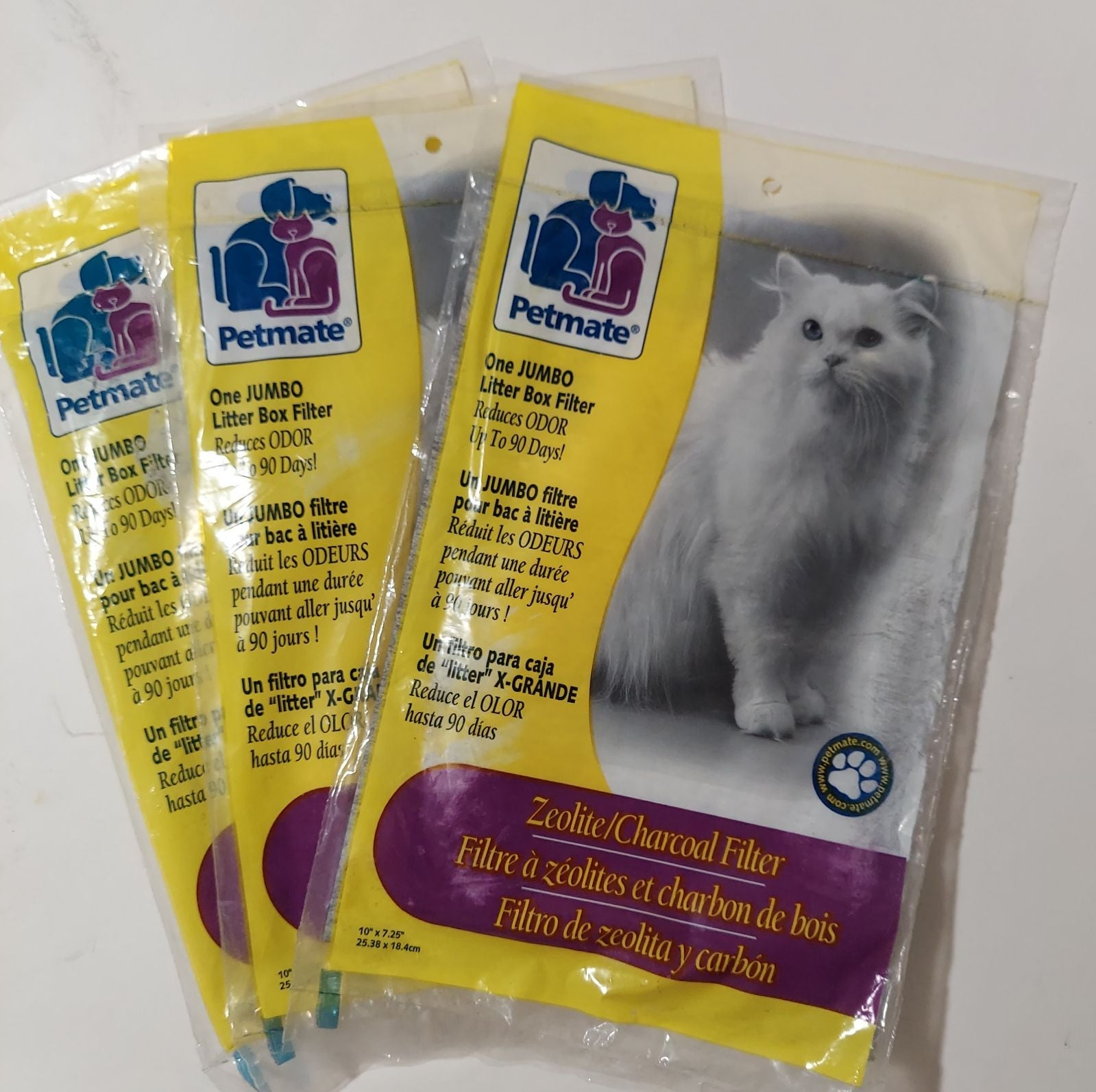 3 Petmate Jumbo Cat Litter Box Filters