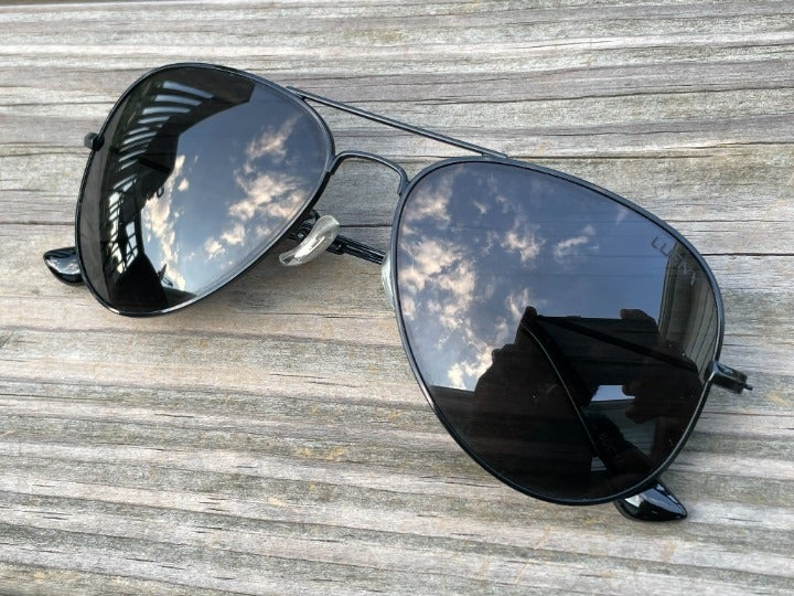 Luenx Men Sunglasses Black Aviator Eye W