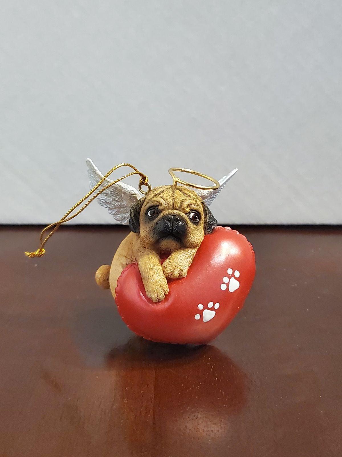 "Danbury Mint Pug /""Having A Ball/"" Christmas Ornament"
