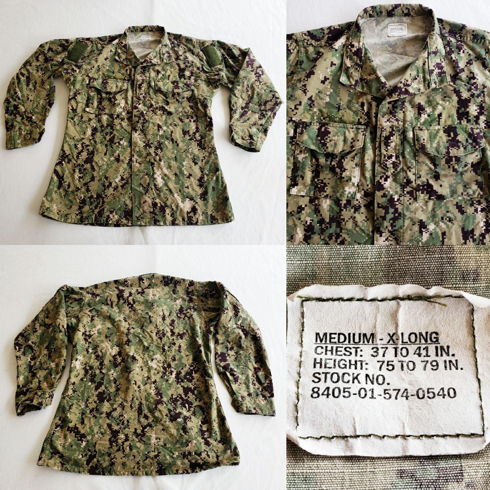 Official Navy USN Digital Camo Jacket M