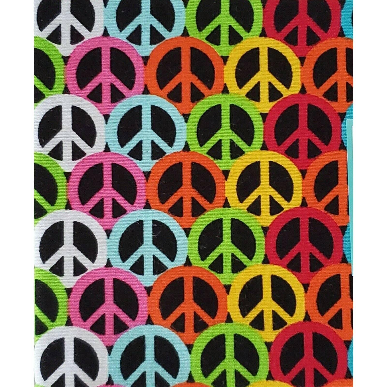 Fat Quarter Peace Signs Colorful Fabric