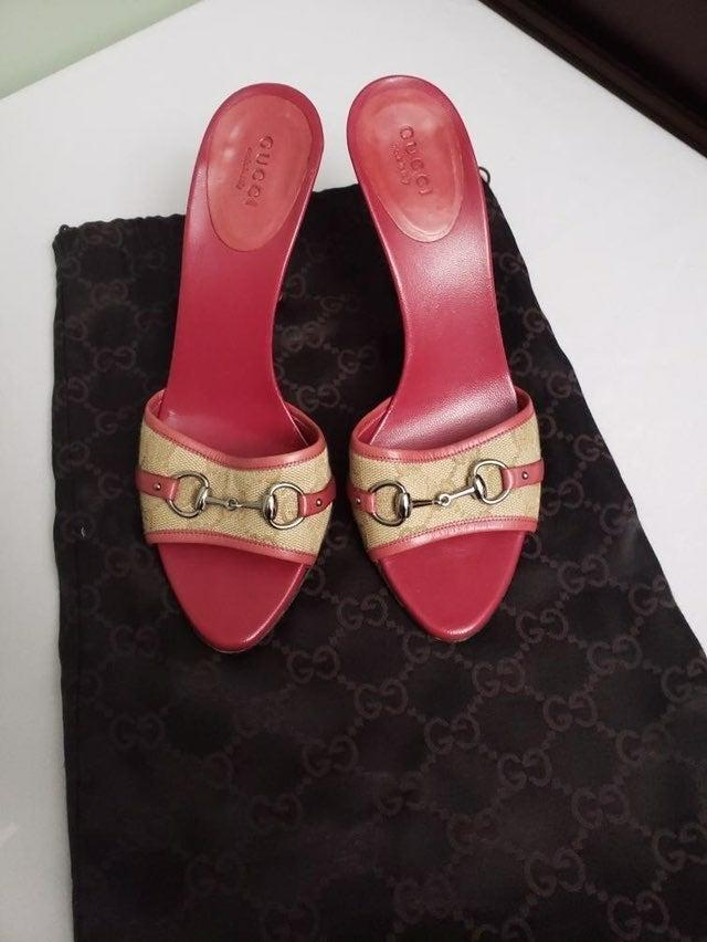 Gucci pink sandal heels