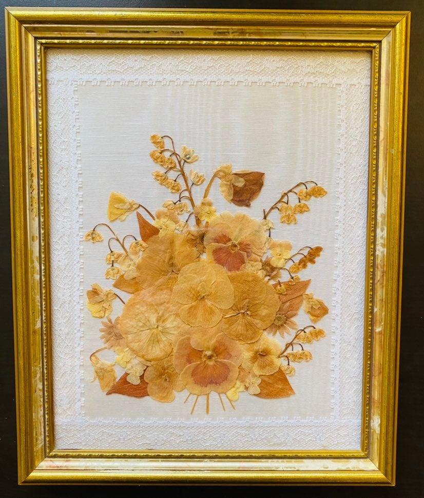 Vintage Pressed Florals Artwork