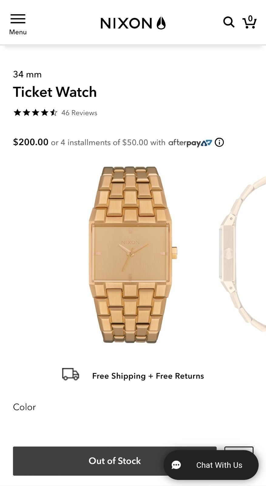 New Nixon All Gold Watch - The Ticket