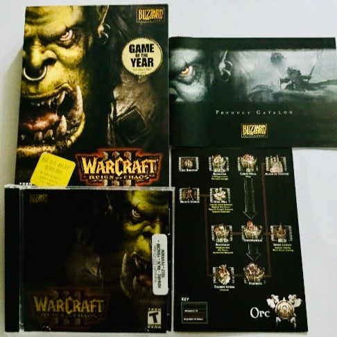 Warcraft 3 Reign of Chaos w Manual, Box