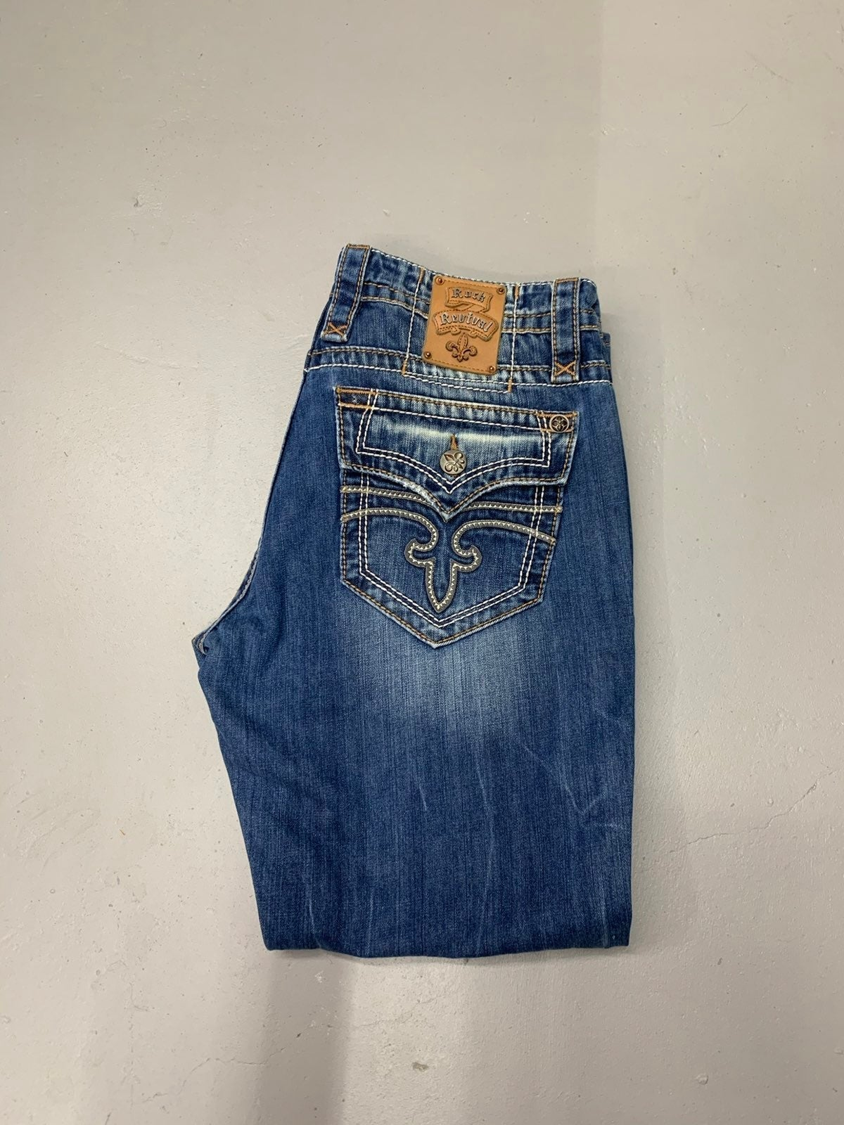 mens Rock Revival jeans straight 36