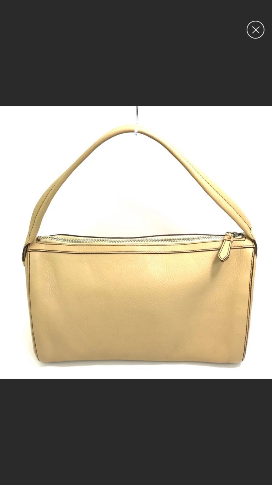 COLE HAAN Butter Pebbled Leather PURSE