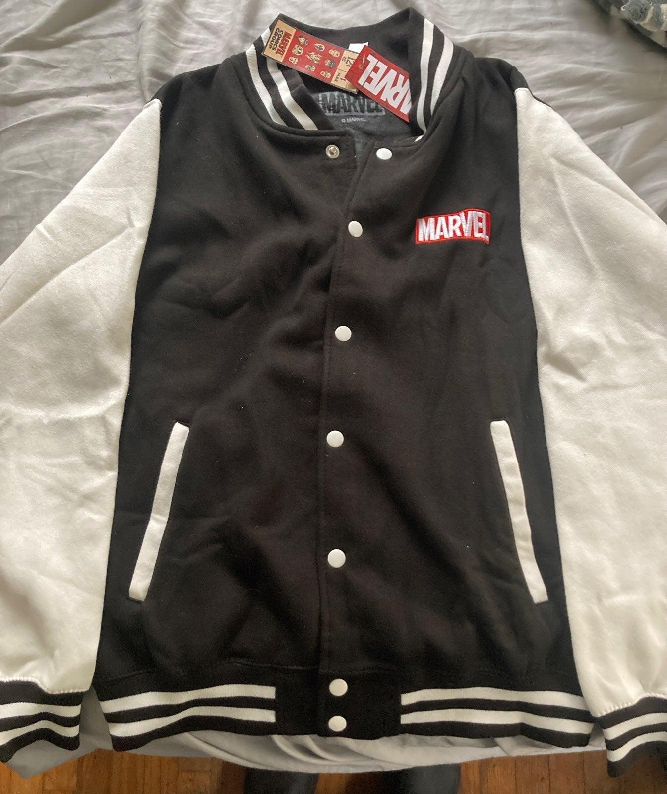 Marvel Black/White Varsity Jacket Medium