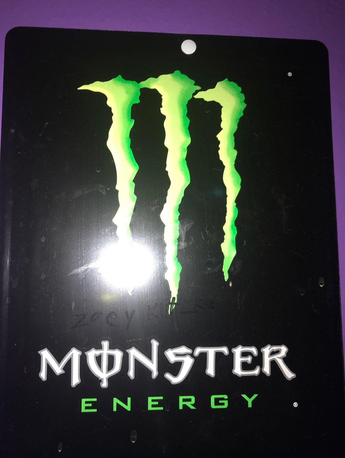 Monster energy sign