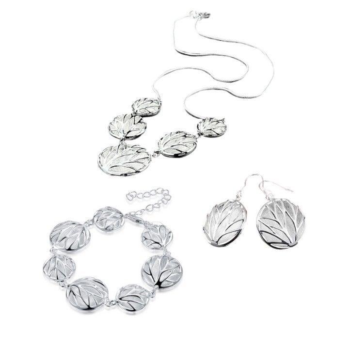 Reversible 3-Piece Silver Jewelry Set