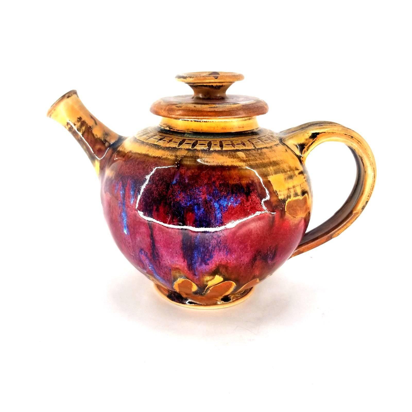 Handmade Raku Ceramic Pottery Teapot
