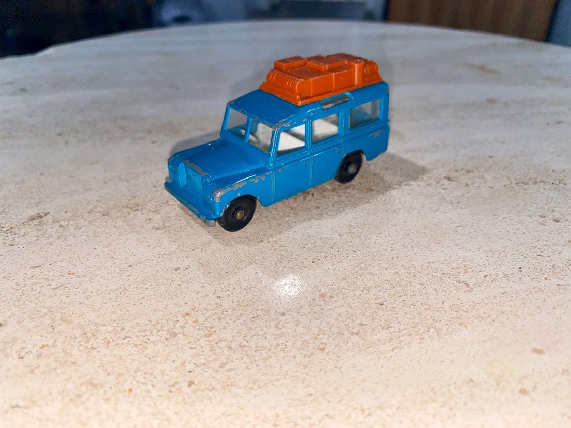 RARE Blue Lesney Land Rover Safari 12