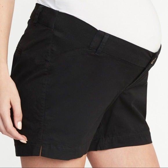 Old Navy Maternity Everyday Shorts Black