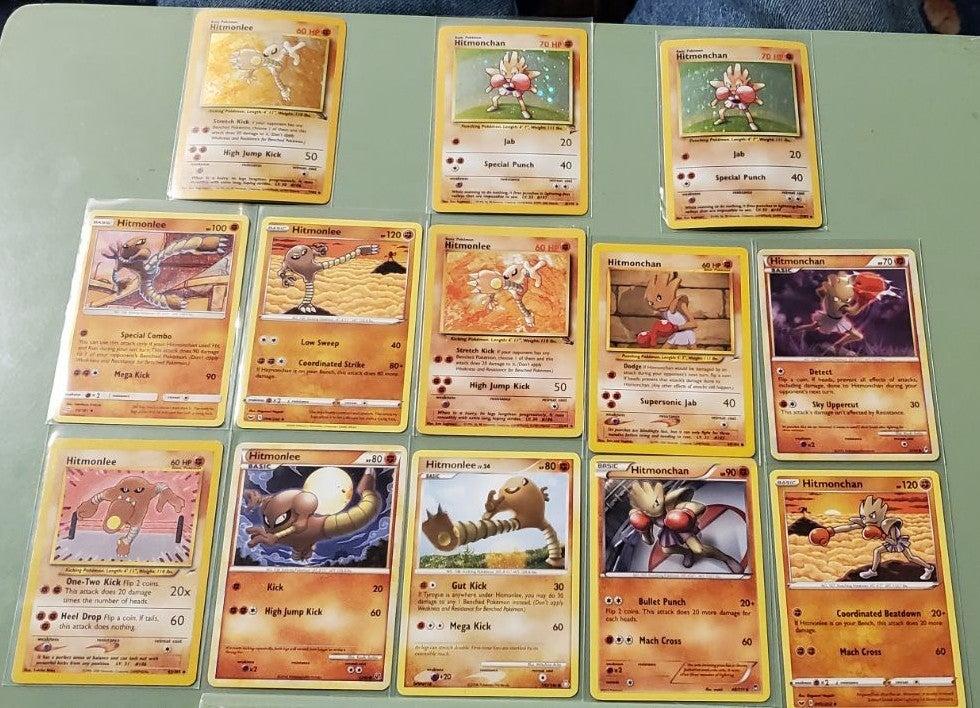 Hitmonchan and Hitmonlee Pokémon card lo