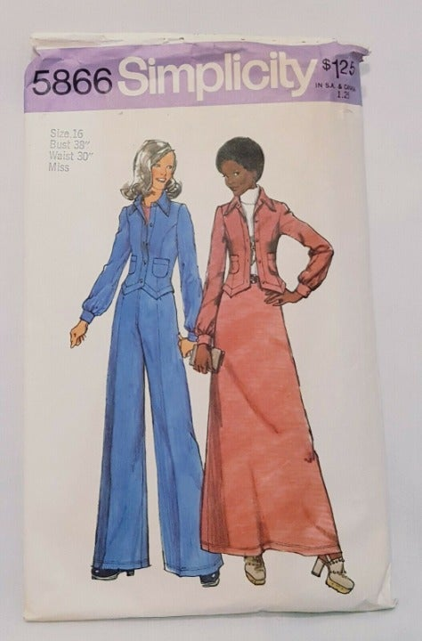 Misses Unlined Jacket Skirt Pants Patter