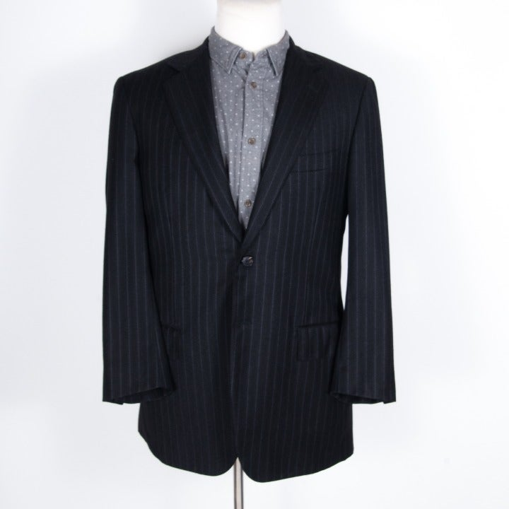 Gianluca Isaia S. 100s Gray Striped Suit