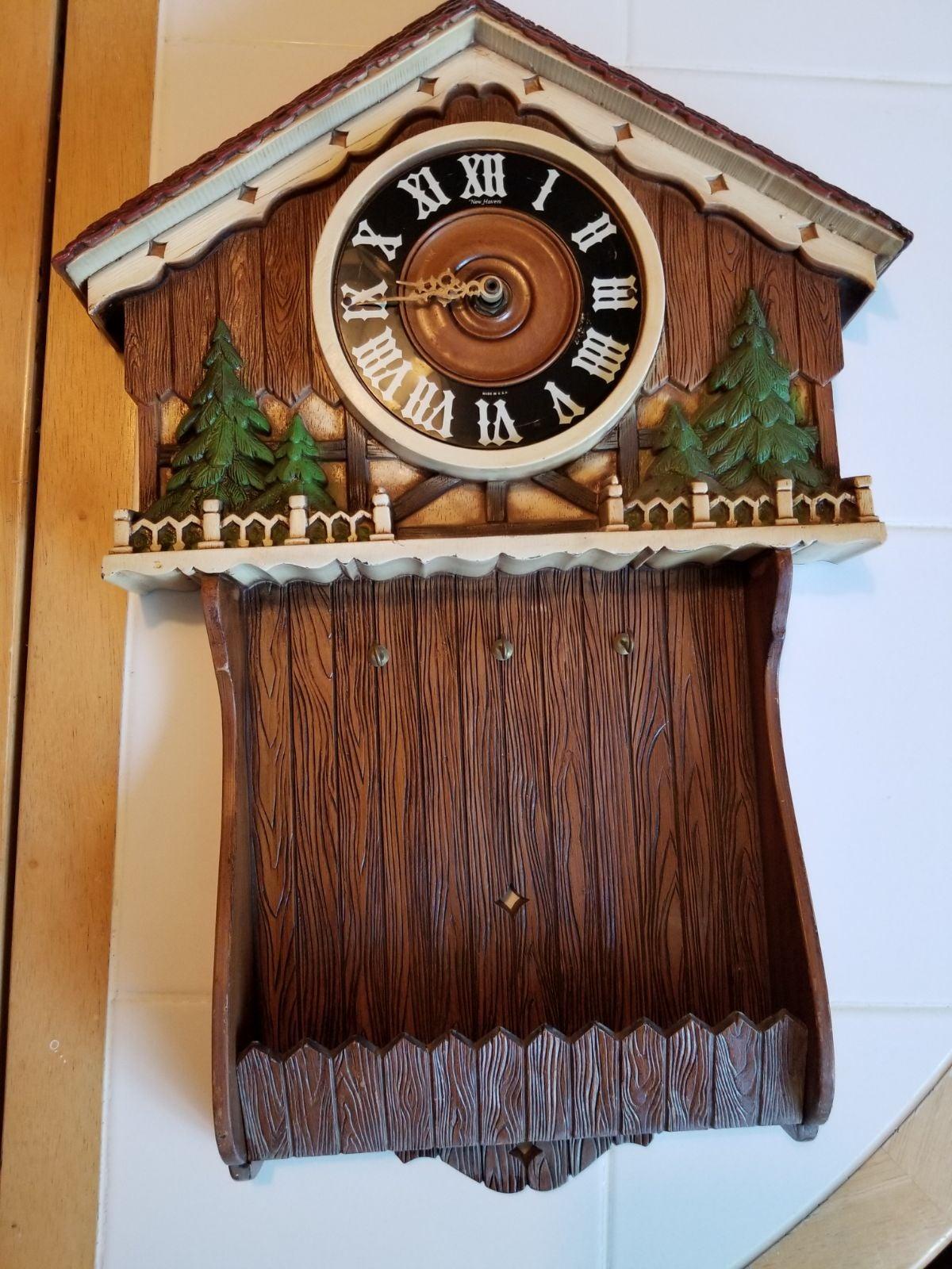 syroco mcm homeco burwood clock/key hang