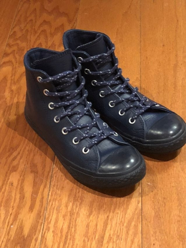 Converse Youth Blue Leather High Tops