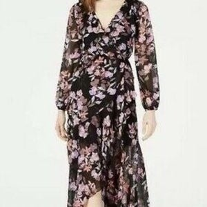 NWT Bar III Floral Ruffled Maxi Dress XL