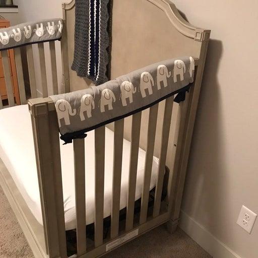 Elephant crib rail covers