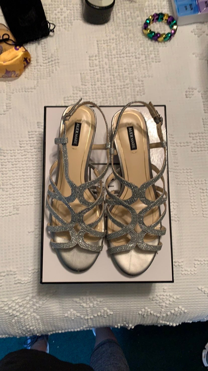 Silver Dress Wedges