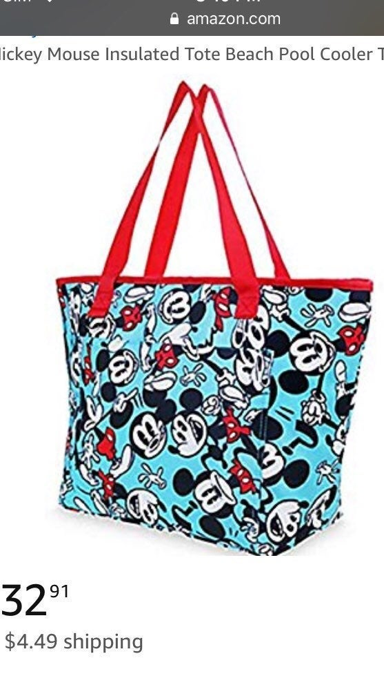 Disney Mickey Mouse Tote Bag Insulated