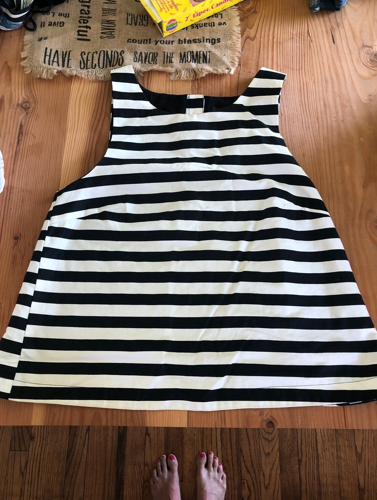 Minkpink black and white striped top
