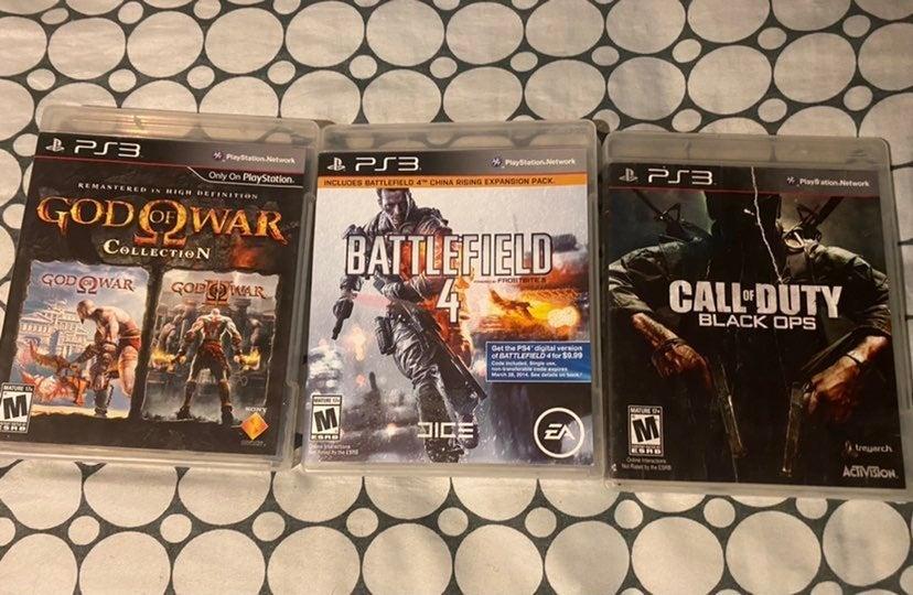 ps3 games Call of Duty , God of war , Ba