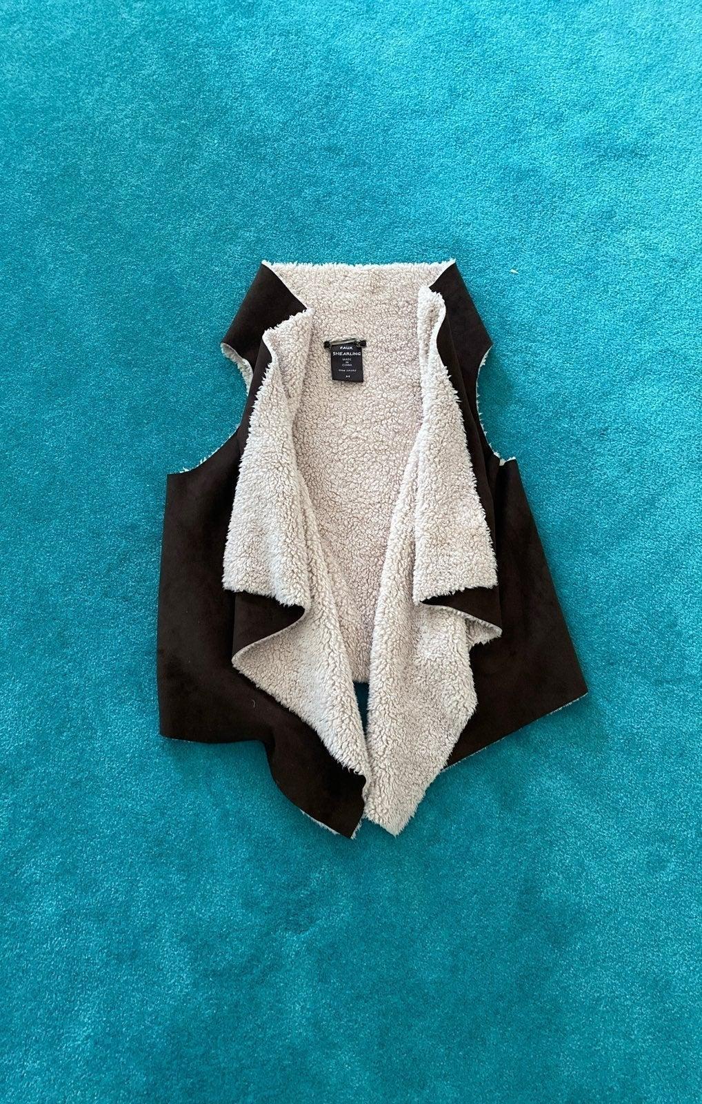 Brown Faux Shearling Vest