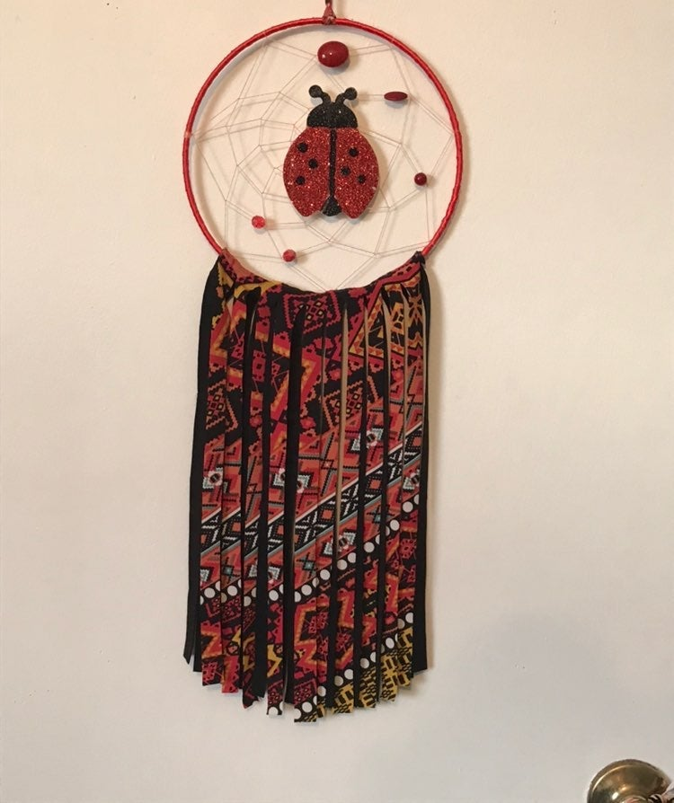 Ladybug dream catcher