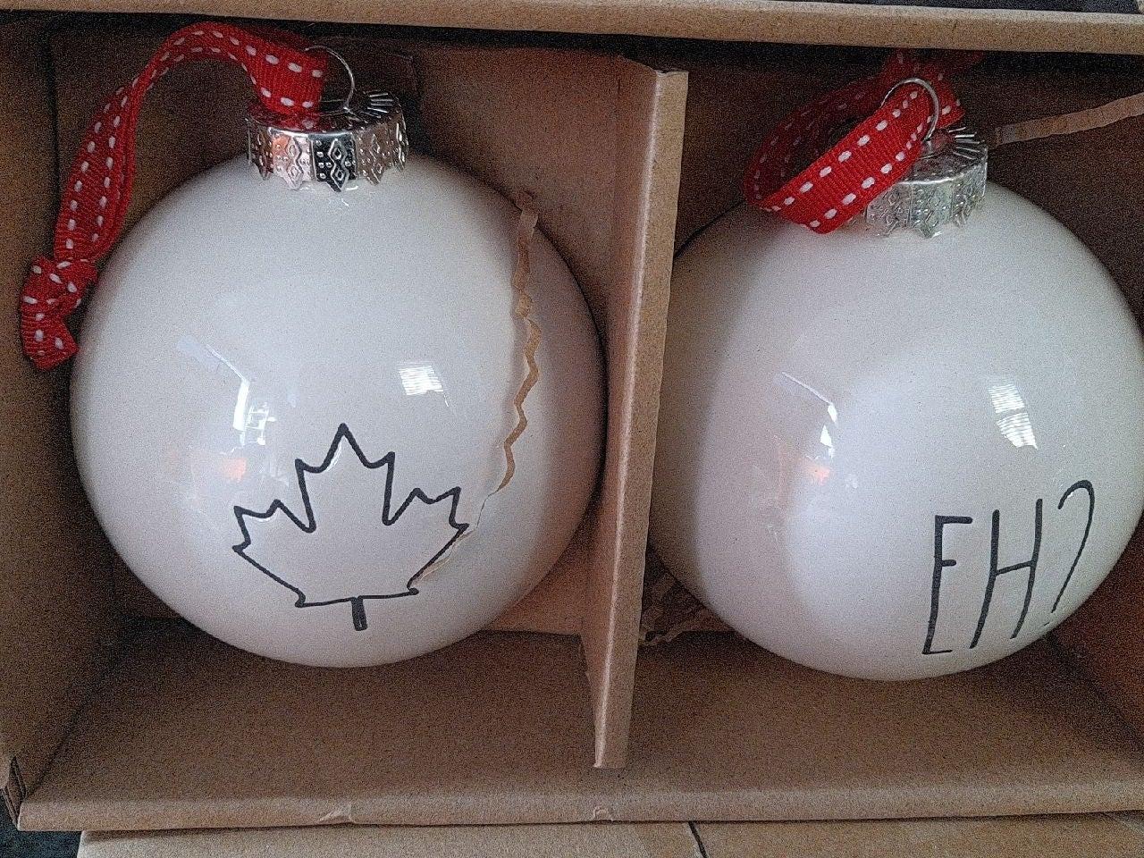 RAE DUNN EH! Ornament SET CANADIAN