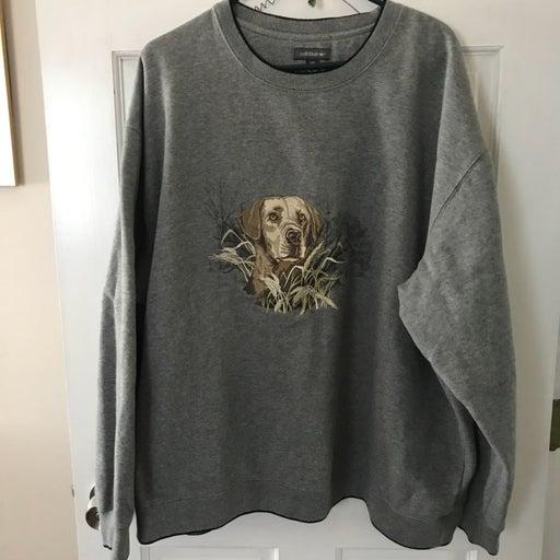 Croft & barrow Lab Dog  Sweatshirt XXL