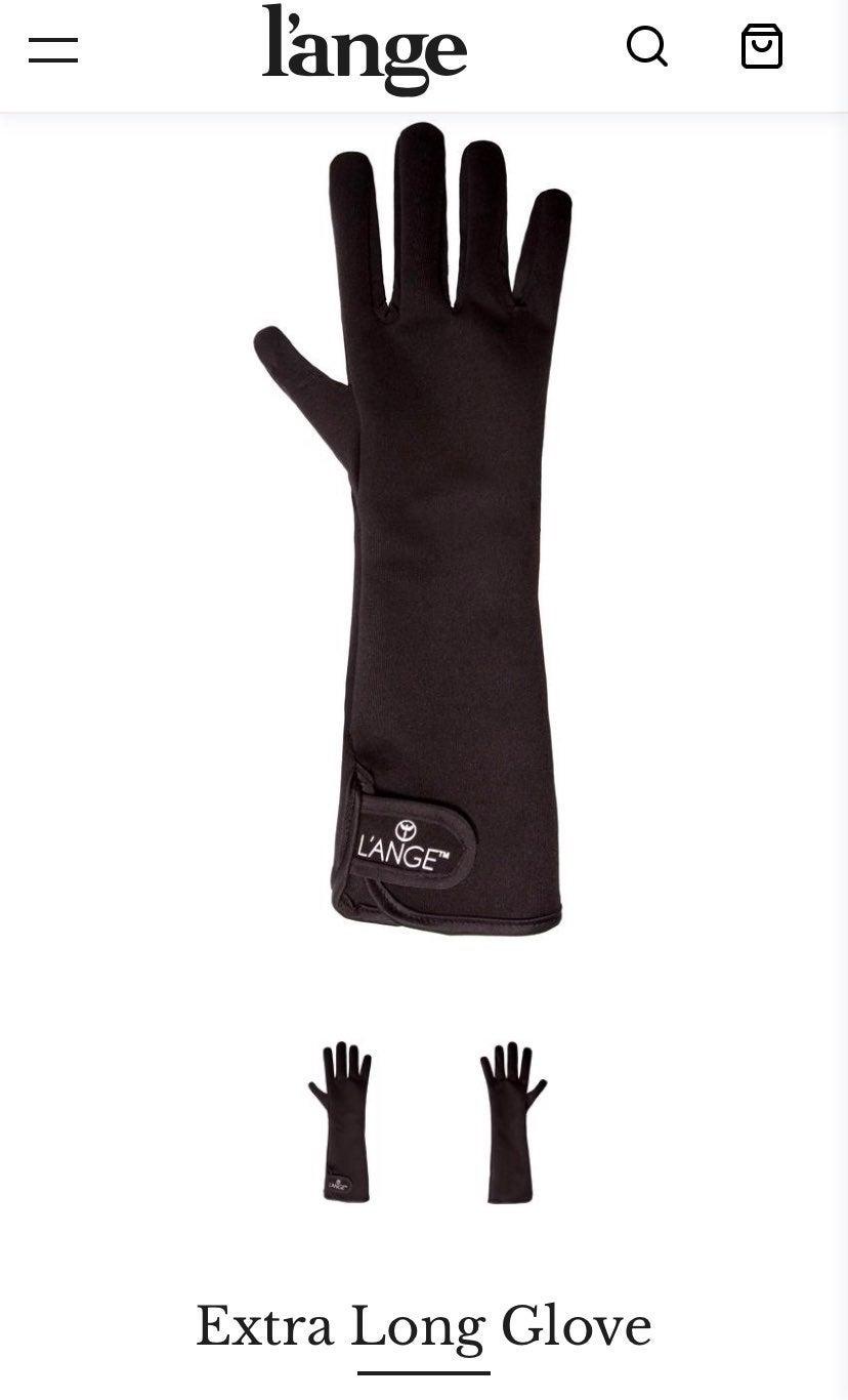 Curling wand heat glove