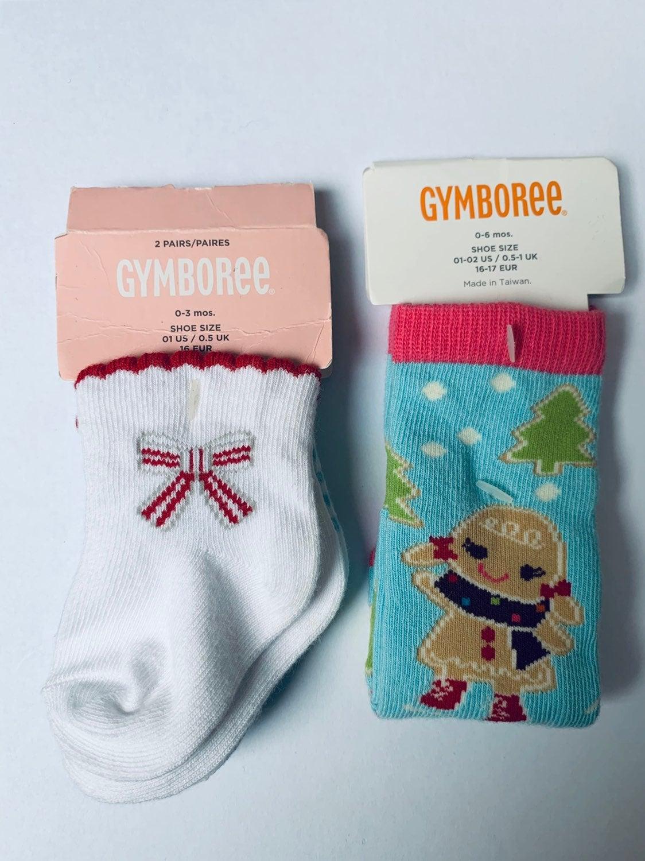New Gymboree Christmas Baby Socks 3 Pair