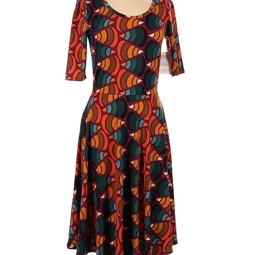 Lularoe Candy Corn Print Dress