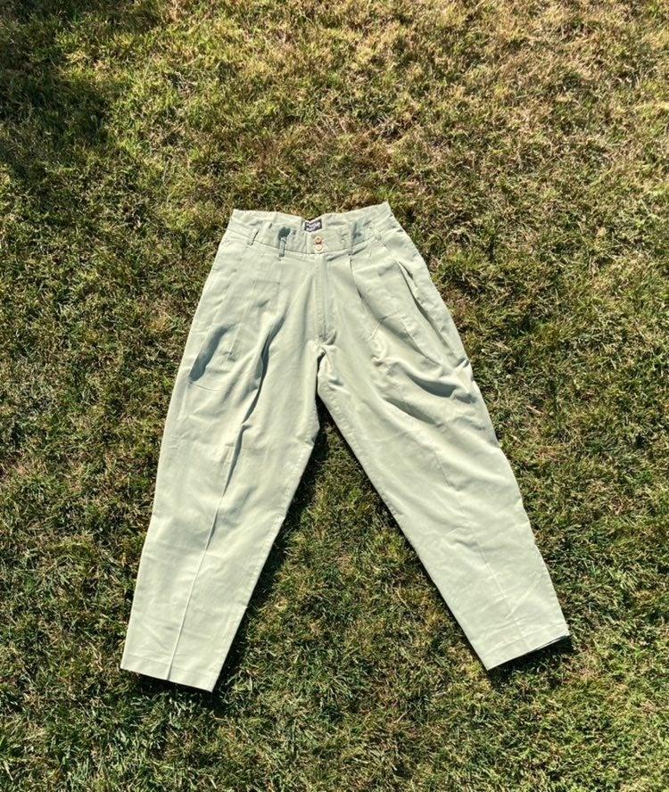 Vintage sage green Bugle Boy pants