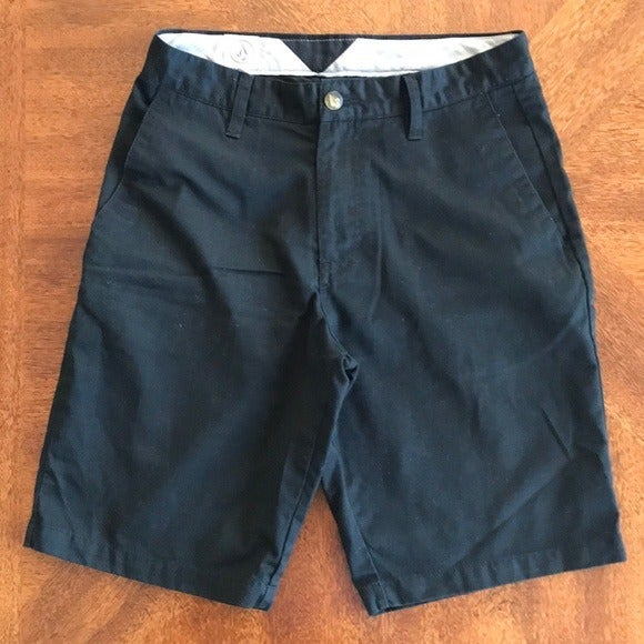 Volcom Black Frickin Chino Shorts 28