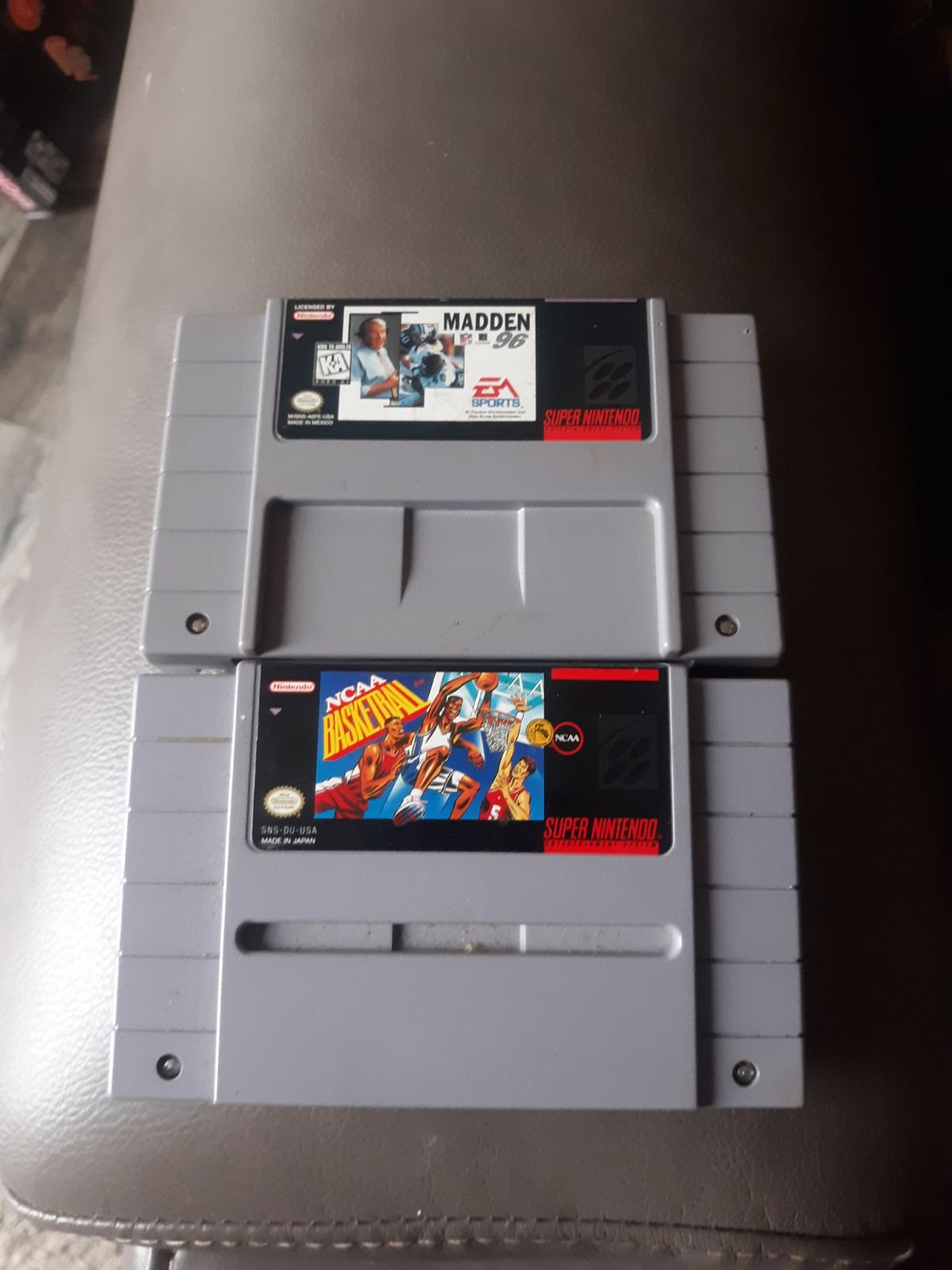 2 SNES Game Lot