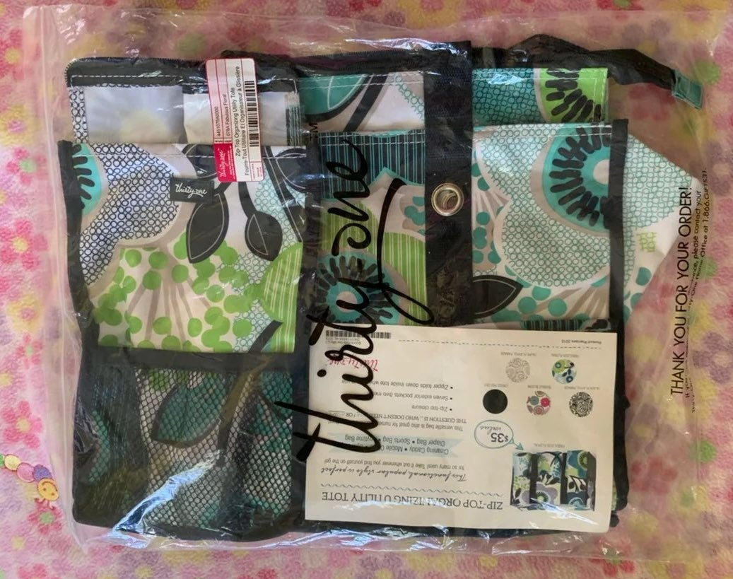NEW THIRTY ONE ZIP TOP UTILITY TOTE