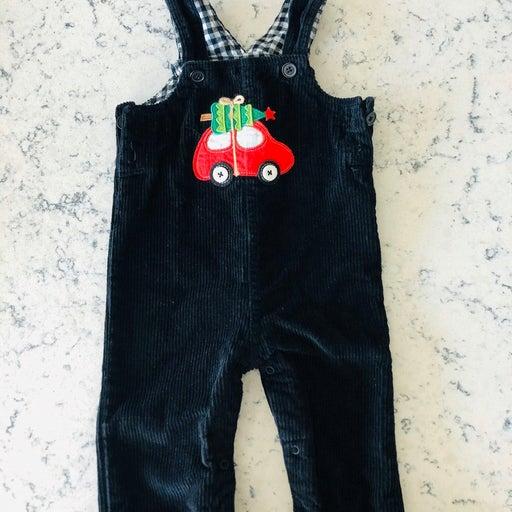 Corduroy overalls jumpsuit christmas