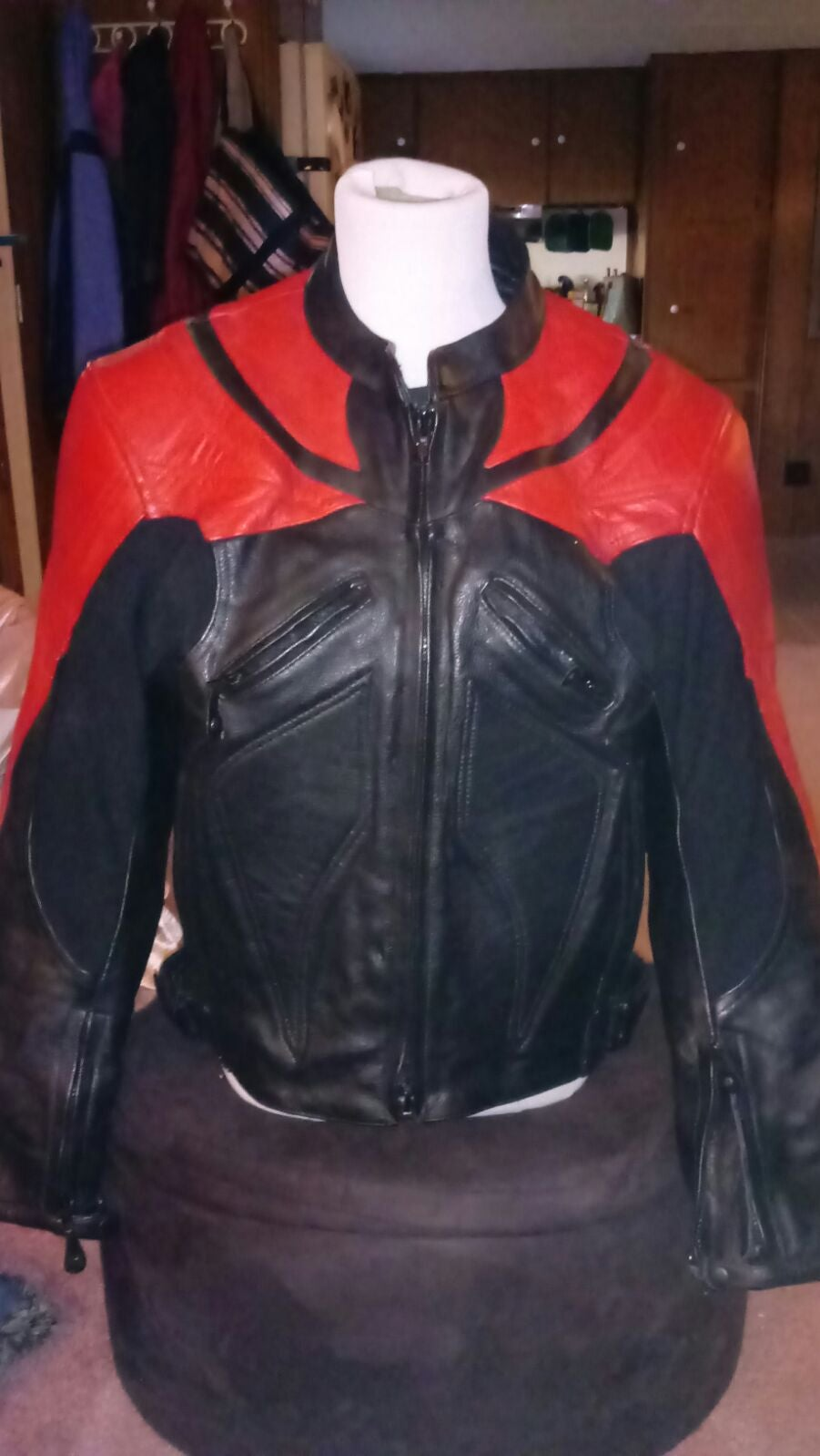 Motorcycle Jacket Padded Lined Leather