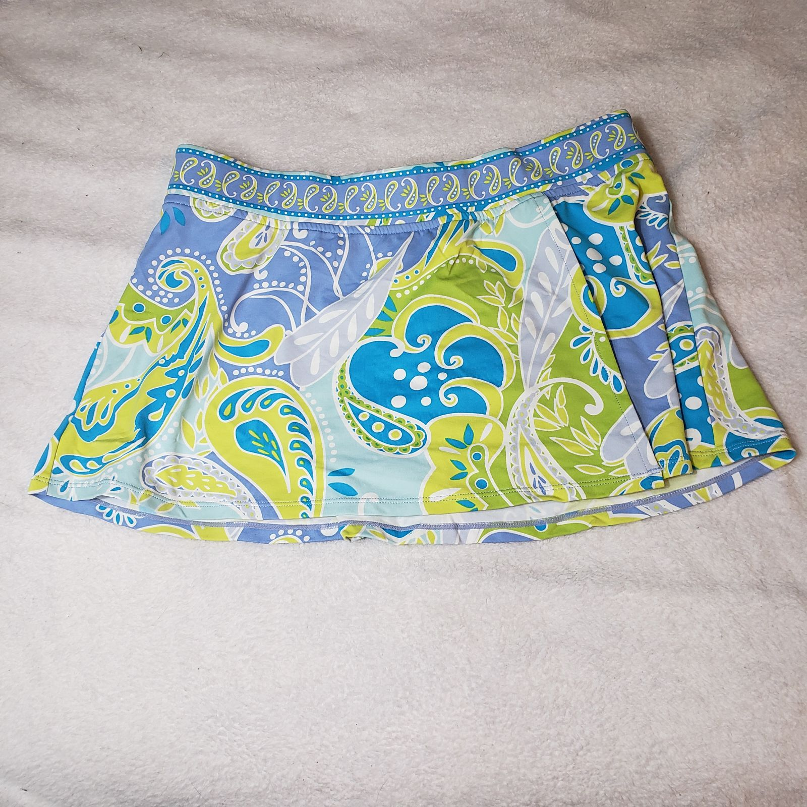 Jantzen Blue Paisley Swim Skirt Cover-Up