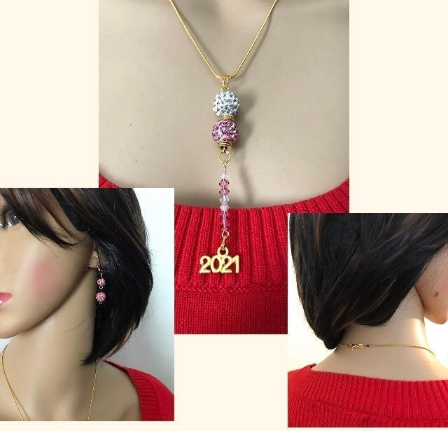 Crystal Ball New Years Jewelry Set