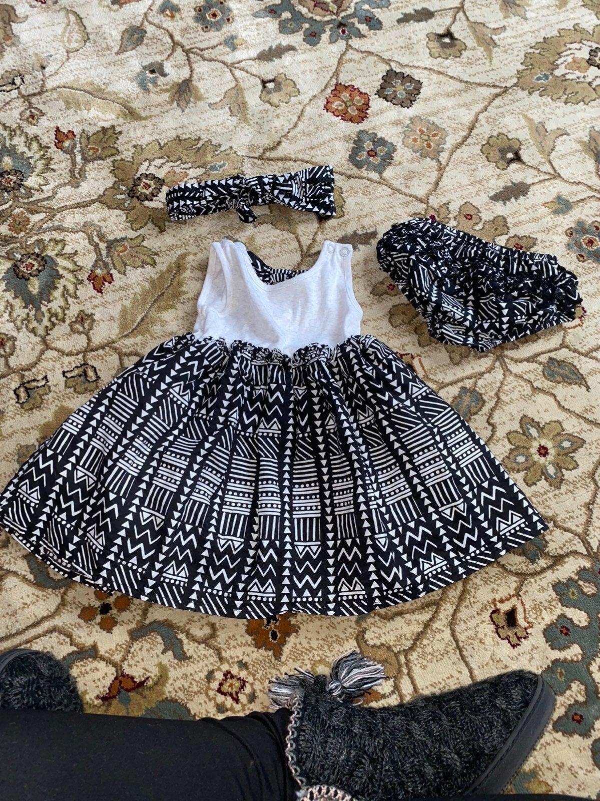 Baby girl tribal pattern dress