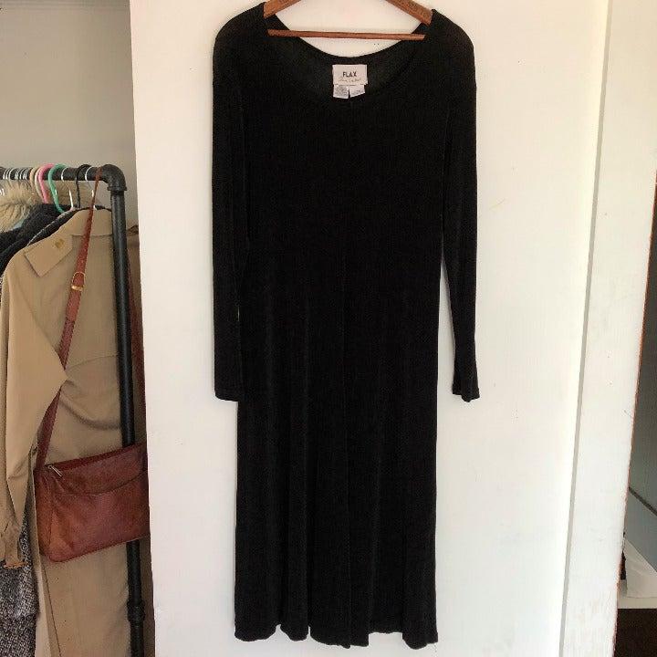 Flax Slinky Knit A Line Midi Dress Sz M