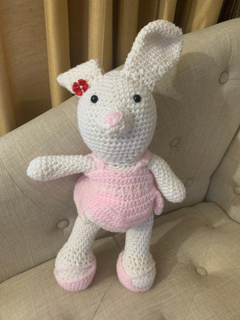 Amigurumi big girl dress up bunny