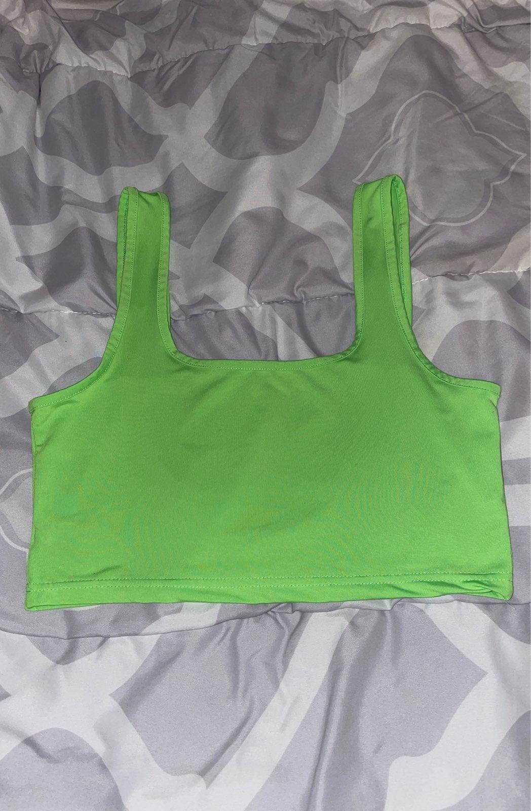 Lime Green Crop Tank