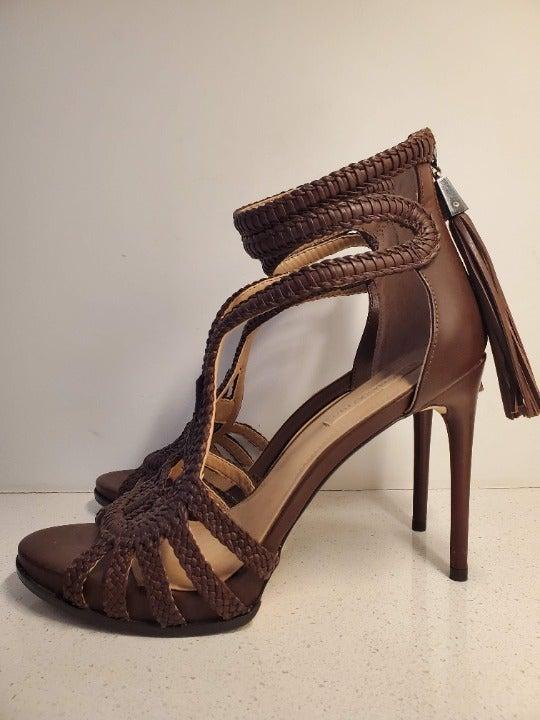 BCBGMAXAZRIA Leather Macrame Sandal