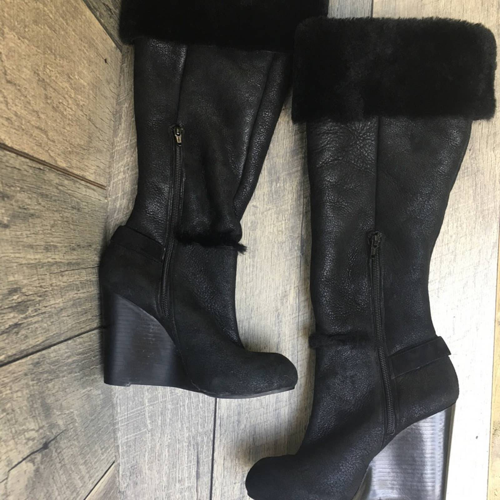 Eddie Bauer Fur Lined OTK Boots …