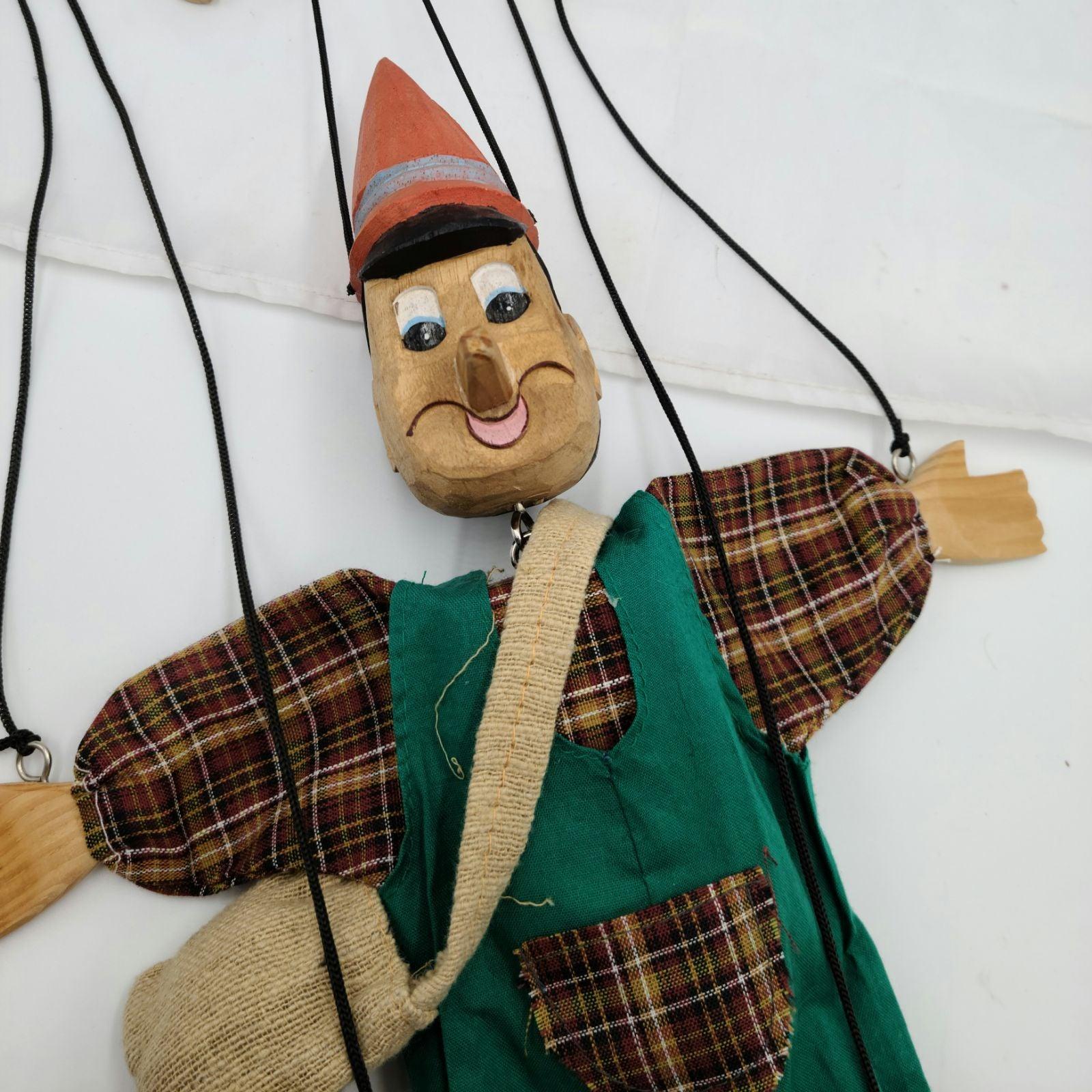 Vintage hand carved marionette puppet